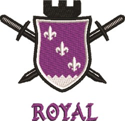 Royal Crest embroidery design