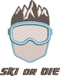 Ski Or Die embroidery design