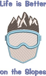 Better On The Slopes embroidery design