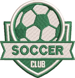 Soccer Club embroidery design
