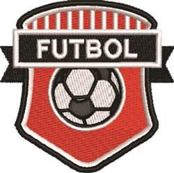 Futbol Crest embroidery design