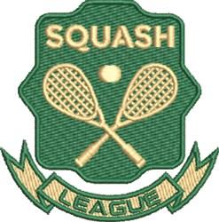 Squash League embroidery design