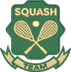 Squash Team embroidery design