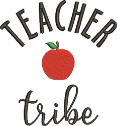 Teacher Tribe embroidery design