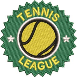Tennis League embroidery design