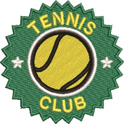 Tennis Club embroidery design