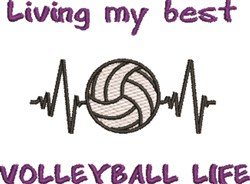 My Best Volleyball Life embroidery design