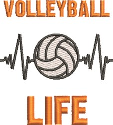 Volleyball Life embroidery design