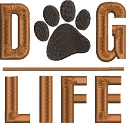Dog Life embroidery design