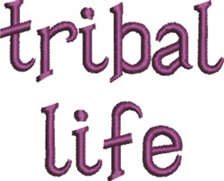 Tribal Life embroidery design
