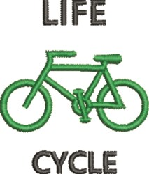 Life Cycle embroidery design