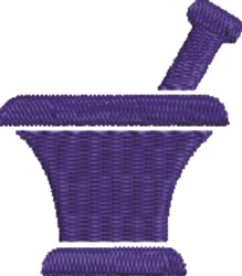 Small Mortar & Pestle embroidery design