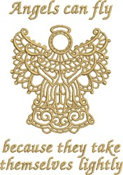 Angels Can Fly embroidery design