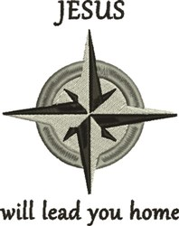 Compass Rose 1C embroidery design