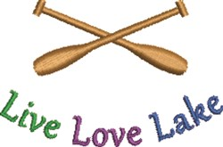 Live Love Lake embroidery design