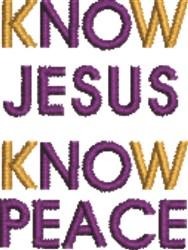 Know Jesus embroidery design