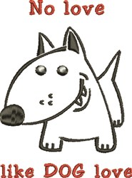 Dog Love embroidery design