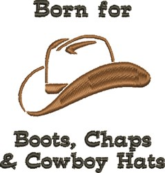 Born For Cowboy Hat embroidery design