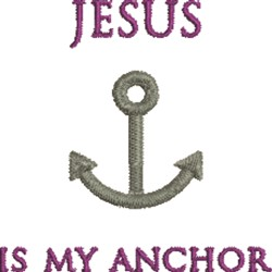 Jesus Is Anchor embroidery design