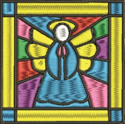 Stained Glass Angel embroidery design
