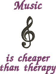 Music Therapy embroidery design
