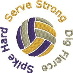 Serve Strong embroidery design