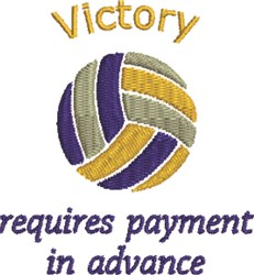 Volleyball Victory embroidery design