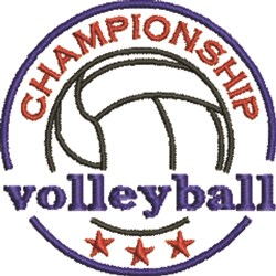 Volleyball Championship embroidery design