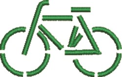 Green Bicycle embroidery design