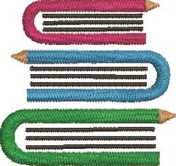 Books & Pencils embroidery design