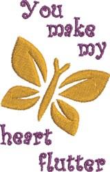 Heart Flutter Butterfly embroidery design