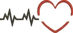 EKG Heartbeat embroidery design