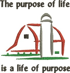 Purpose Of Life embroidery design