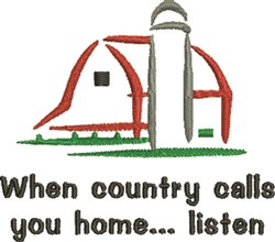 Country Calls embroidery design