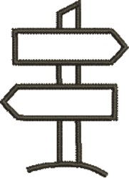 Signpost embroidery design