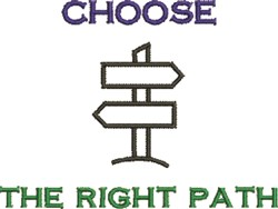 Choose Right Path embroidery design