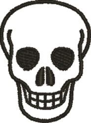 Skull Outline embroidery design