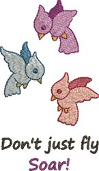 Dont Just Fly embroidery design