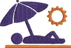 Sun Bather embroidery design