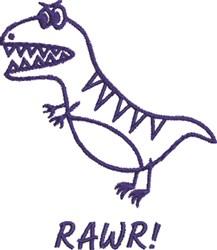 Dinosaur Rawr embroidery design