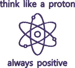 Atomic Symbol embroidery design