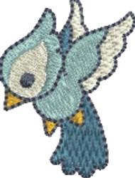 Small Blue Bird embroidery design