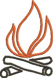 Campfire Outline embroidery design