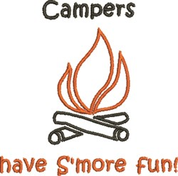 Campfire SMore Fun embroidery design