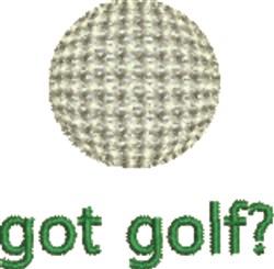 Got Golf? embroidery design