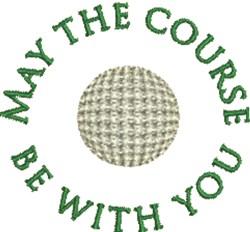 Golf Ball Course embroidery design