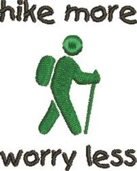 Hike More! embroidery design