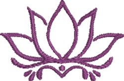 Lotus Flower Outline embroidery design