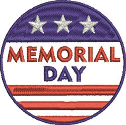 Memorial Day Patch embroidery design