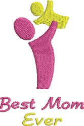 Mother & Child Silhouette embroidery design
